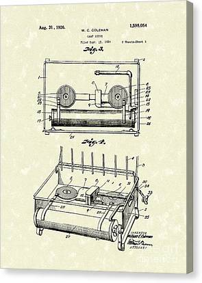 Camping Canvas Print - Camp Stove 1926 Patent Art by Prior Art Design