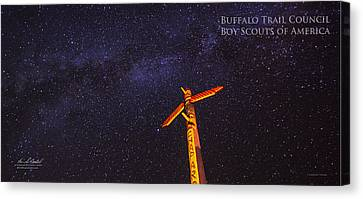 Campfire Totem Canvas Print by Aaron Bedell