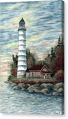 Cana Island Light Canvas Print by Steven Schultz