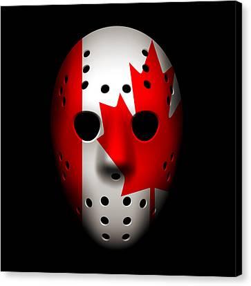 Canada Goalie Mask Canvas Print by Joe Hamilton