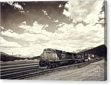 Canada Rail Canvas Print