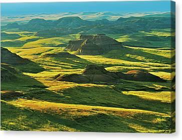 Canada, Saskatchewan, Grasslands Canvas Print
