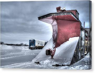 Canadian Pacific Snow Plow Canvas Print