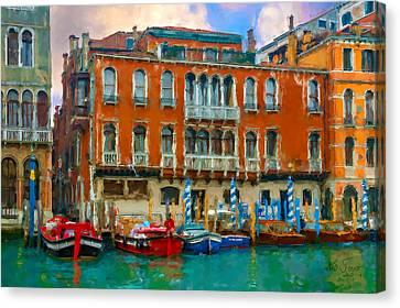 Canvas Print featuring the photograph Canal Grande. Venezia by Juan Carlos Ferro Duque