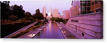 Canal In A City, Indianapolis Canal Canvas Print by Panoramic Images