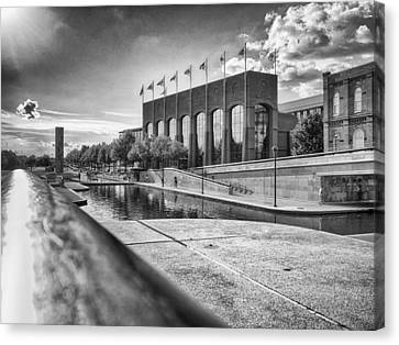 Canvas Print featuring the photograph Canal Walk by Howard Salmon