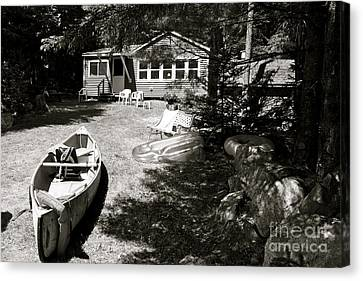 Canvas Print featuring the photograph Canoe At The Lake by Paul Cammarata