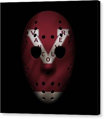 Vancouver Canvas Print - Canucks Jersey Mask by Joe Hamilton