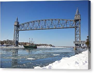 Cape Cod Train Bridge Canvas Print