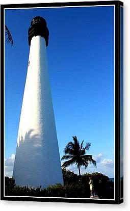Cape Florida Lighthouse Canvas Print by Dora Sofia Caputo Photographic Art and Design