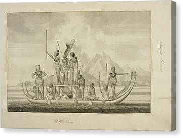 Captain Cook's First Voyage Of Exploratio Canvas Print