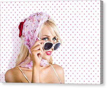 Glamour Optics Canvas Print - Captivating Woman Looking At Fashion Copyspace by Jorgo Photography - Wall Art Gallery