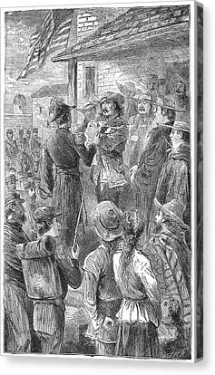 Capture Of Santa Fe, 1846 Canvas Print by Granger