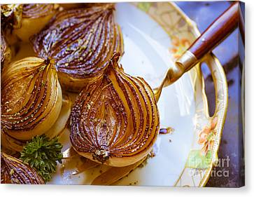 Cook Canvas Print - Caramelized Balsamic Onions by Edward Fielding