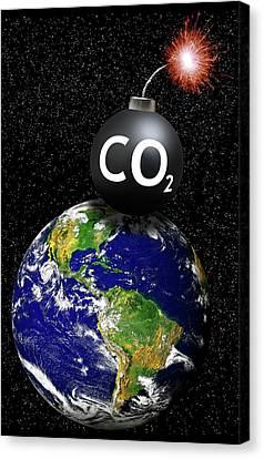 Carbon Dioxide Bomb Canvas Print by Victor De Schwanberg