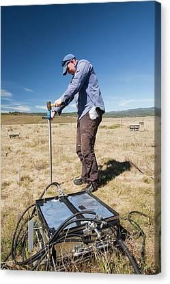 Soil Bacteria Canvas Print - Carbon Dioxide Exchange Experiment by Ashley Cooper