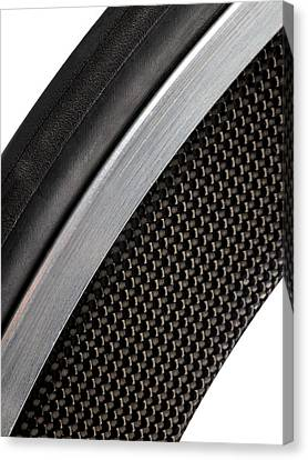 Carbon Fibre Bicycle Wheel Canvas Print by Science Photo Library