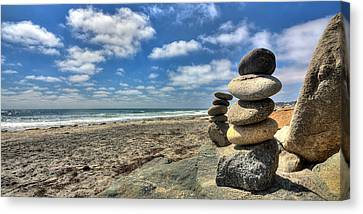 Cardiff Stacks Canvas Print by Peter Tellone