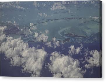 Airplane Canvas Print - Caribbean Aerial 4 by Bonnie Leigh Delar