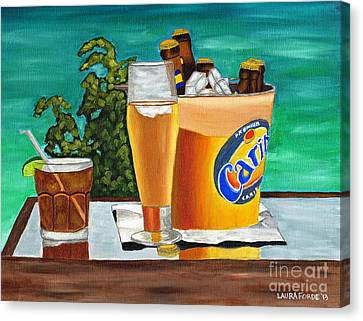 Caribbean Beer Canvas Print