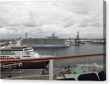 Caribbean Cruise - On Board Ship - 121214 Canvas Print by DC Photographer