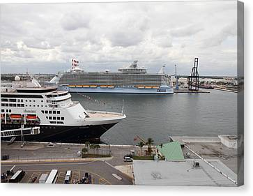 Caribbean Cruise - On Board Ship - 121221 Canvas Print by DC Photographer