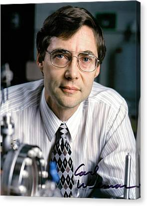 21st Century Canvas Print - Carl Wieman by Emilio Segre Visual Archives/american Institute Of Physics