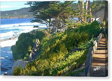 Carmel Beach Stairway Canvas Print