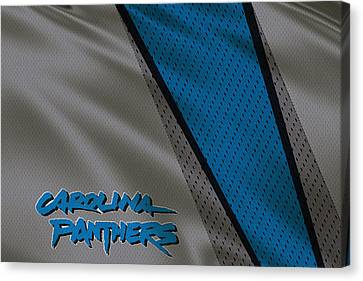 Carolina Panthers Uniform Canvas Print by Joe Hamilton