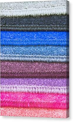 Selection Canvas Print - Carpet Colours by Tom Gowanlock