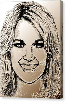 Carrie Underwood In 2011 Canvas Print
