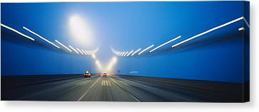 Long Street Canvas Print - Cars On A Suspension Bridge, Bay by Panoramic Images
