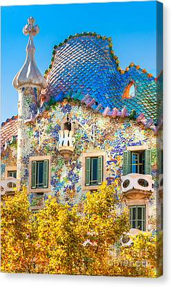 Casa Batllo - Barcelona Canvas Print by Luciano Mortula