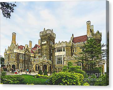 Casa Loma In Toronto Canvas Print by Les Palenik