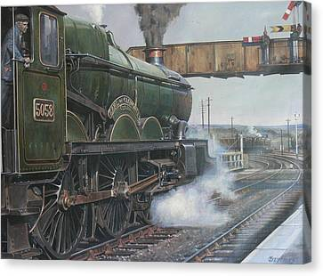 Castle Class 4.6.0. Canvas Print by Mike  Jeffries
