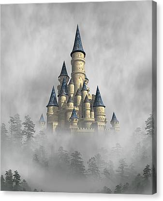 Castle In The Clouds Canvas Print by David Griffith