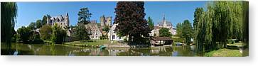 Castle On A Hill, Chateau De Montresor Canvas Print by Panoramic Images