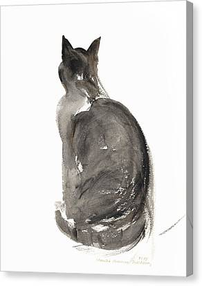 Cat Canvas Print by Claudia Hutchins-Puechavy