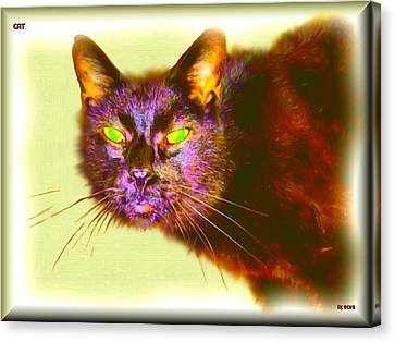 Canvas Print featuring the digital art Cat by Daniel Janda