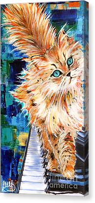 Cat Orange Canvas Print by Melanie D