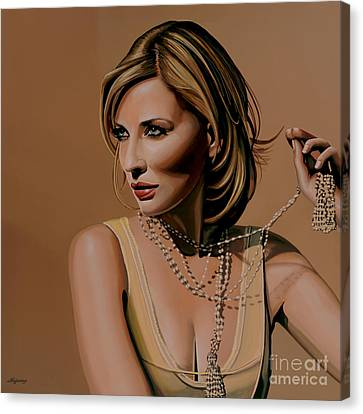 Artwork On Canvas Print - Cate Blanchett Painting  by Paul Meijering