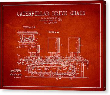 Caterpillar Drive Chain Patent From 1952 Canvas Print