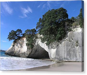 Cathedral Cove Canvas Print by Christian Zesewitz