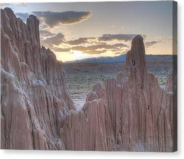 Cathedral Gorge Canvas Print by Jenessa Rahn