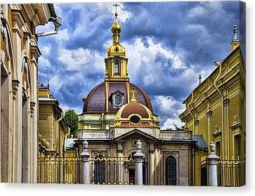 St John The Russian Canvas Print - Cathedral Of Saints Peter And Paul - St Petersburg Russia by Jon Berghoff