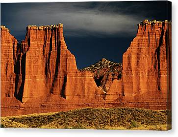 Cathedral Valley, Capitol Reef National Canvas Print by Michel Hersen