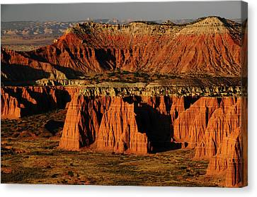 Cathedral Valley, Upper Cathedral Canvas Print by Michel Hersen