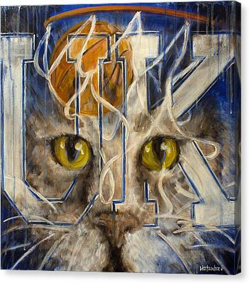 Kentucky Wildcats Canvas Print - Cats by Josh Hertzenberg