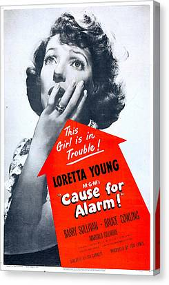Cause For Alarm, Us Poster, Loretta Canvas Print by Everett