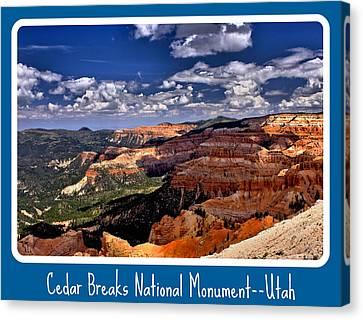 Cedar Breaks Nm Canvas Print
